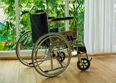 Wheelchair Seat Of The Hand Wheel. To Propel Itself The Main Component Is Seated At The Foot Wheel,  poster