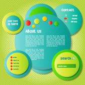 Colorful and Funny Website Template - EPS10 Vector Background