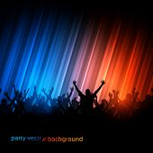 foto of party people  - Vector Background  - JPG