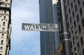 foto of nyse  - wall street sign - JPG
