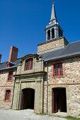 Building inside the historic and famous Fortress of Louisbourg; Cape Breton, Nova Scotia, Canada.