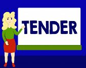 Writing Note Showing Tender. Business Photo Showcasing Showing Gentleness Kindness And Affection Sen poster