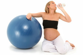 image of pregnancy exercises  - Beautiful 19 year old pregnant mother - JPG