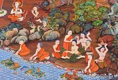 Ancient Buddhist Temple Mural