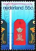 Postage stamp Netherlands 1978 Epaulettes, Military Academy