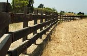 Wooden Fence On Ranch