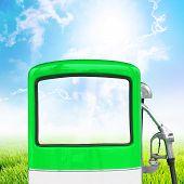 Gasoline Fuel Pump, Clipping Path