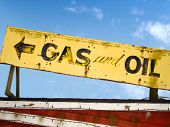 Old Gas And Oil Sign