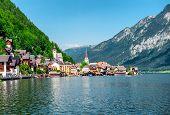 View Of Hallstatt. Village In Austria