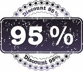 Stamp Discount Ninety Five Percent