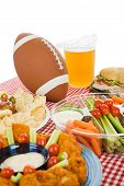 Super Bowl Party Table