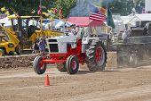 Case 1070 Orange & White Tractor Pulling