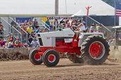 Case 1070 Orange & White Tractor
