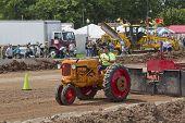Minneapolis Orange & Red Tractor Pulling