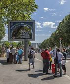 Billboard During Le Tour De France