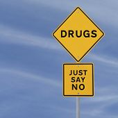 stock photo of just say no  - Road sign indicating Just Say No To Drugs  - JPG