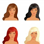 illustrations of beautiful women