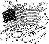 American hot dog sketch