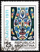 Postage stamp Argentina 1971 Christ in Majesty, Christmas