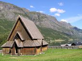 Very Old Stavkirke In Norway
