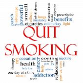 Quit Smoking Word Cloud Concept