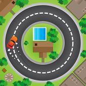 Conducción en círculo