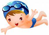 Junge Schwimmer
