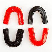 Four Simple Mouthguards Isolated