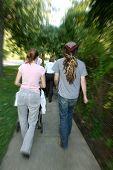 Urban Couples Walking