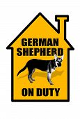 German Shepherd Sign.