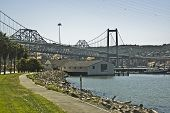 Carquinez Bridge And Cal Maritime Boat House