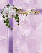 Easter Orchids And Ribbons Border