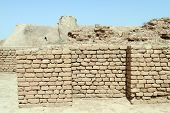 picture of ziggurat  - Brick wall near Choqa Zanbil ziggurat near Shush Iran - JPG