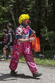 Funny Character On The Road Of Le Tour De France