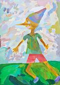 Child's Paiting - Pinocchio