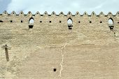 picture of shiraz  - Brick wall of fortress Arg - JPG