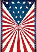 Cartaz de nós bandeira. Bandeira americana ao fundo deste pôster para você.
