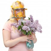stock photo of hay fever  - Allergy to pollen concept - JPG