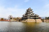 Matsumoto castle and the lake