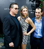 NEW YORK - MAY 29: Actor Stephen Baldwin (L), Hailey Baldwin and Jonathan Baldwin (R) attend the pre
