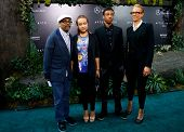NEW YORK - MAY 29: (L to R): Spike Lee, Satchel, Lee, Jackson Lee and Tonya Lewis attend the premier