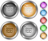 Reset. Raster internet buttons. Vector version is in portfolio.