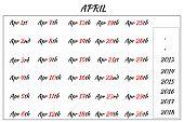 April Month Dates