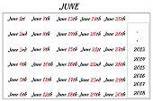 June Month Dates