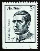 Briefmarke Australien 1968 Andrew Barton (Banjo) Paterson, Dichter