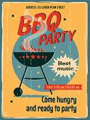 Vintage sign - Barbecue Party