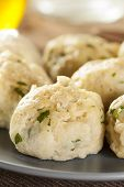 Homemade Matzo Balls With Parsley