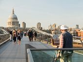St Pauls Cathedral Church London Millenium Bridge