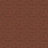 Doodle circles light brown seamless background