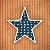 4. Juli, American Independence Day Vintage Background mit Stern.